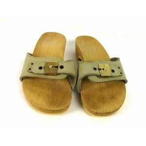 Dr Scholls Wood Sandals Sz 5 Vintage Austria